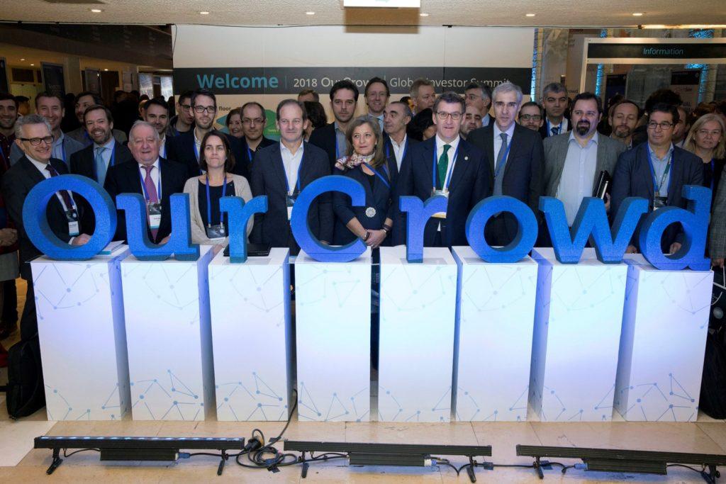 Alberto Nuñez Feijóo, Francisco Conde y Patricia Argerey, junto con los representantes de las iniciativas gallegas en Israel